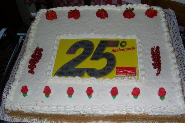 Torta 25° Anniversario del Club