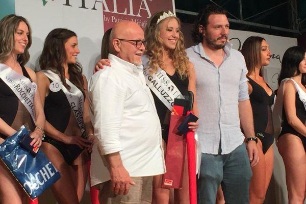 Il Presidente Enio Turrini con la vincitrice delle selezioni